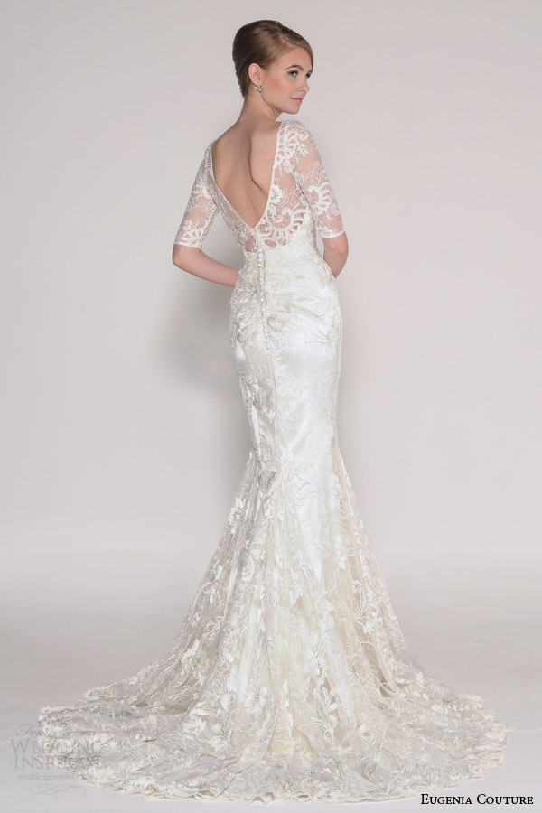 Eugenia couture bridal spring 2016 delia illusion half sleeve mermaid