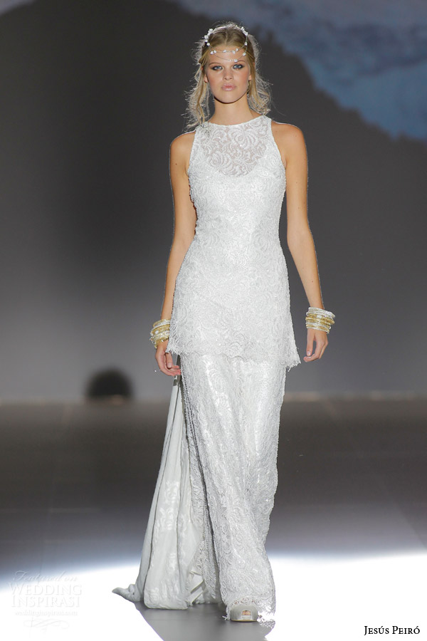 jesus peiro 2016 nanda devi bridal deepika two piece sleeveless column wedding dress crystal embroidered floral motif