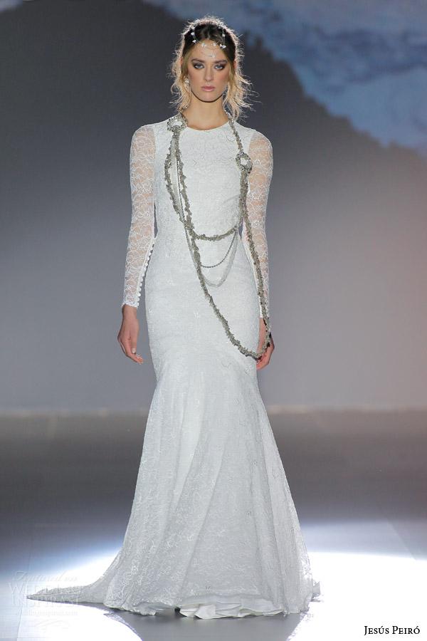 jesus peiro 2016 nanda devi bridal gudya lightning long sleeve lace wedding dress guipure lace crystal waist