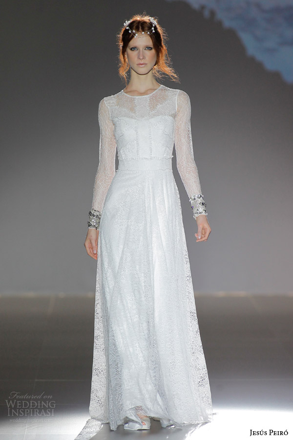 jesus peiro bridal 2016 nanda devi ambuja lotus illusion long sleeve georgette crepe lace over netting wedding dress