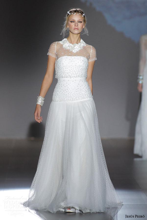 Jesus peiro 2016 wedding dresses nanda devi bridal for Adding cap sleeves to a wedding dress