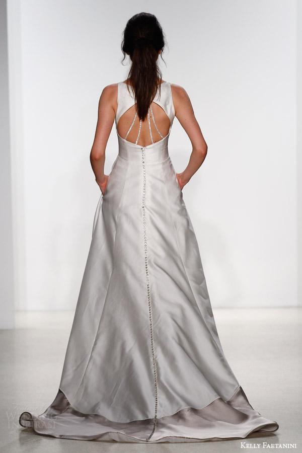 kelly faetanini bridal spring 2016 alessia sleeveless a line color block skirt wedding dress pockets keyhole back crystal
