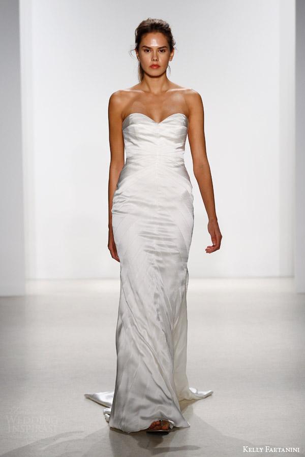 kelly faetanini bridal spring 2016 drue strapless mermaid wedding dress chevron panel