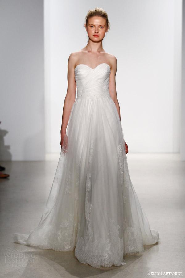 kelly faetanini bridal spring 2016 maci strapless a line wedding dress ruched sweetheart bodice