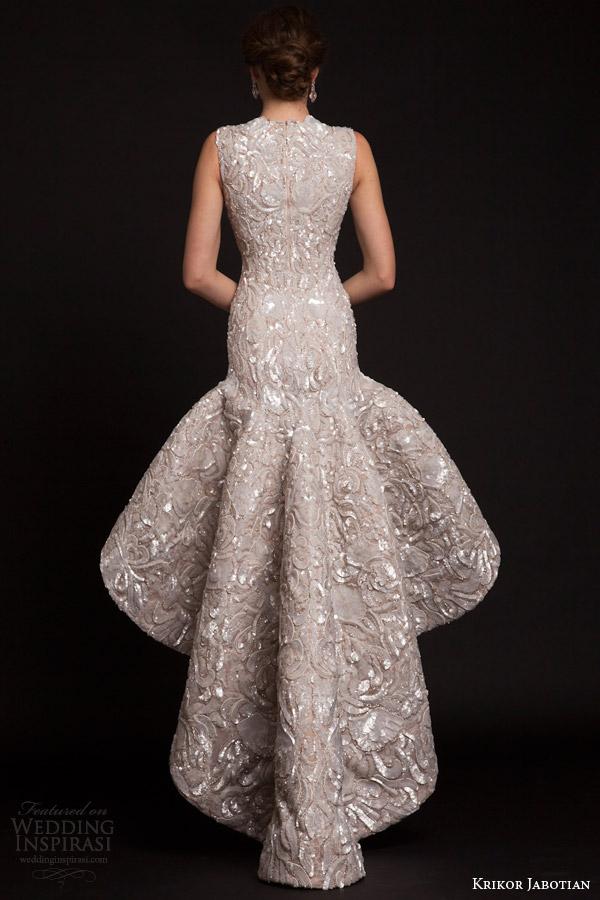 Krikor jabotian spring 2015 dresses the last spring for Low waist wedding dress
