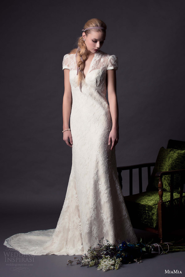 Miamia bridal 2015 wedding dresses wedding inspirasi for Puff sleeve wedding dress