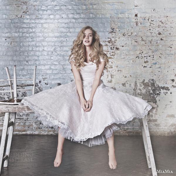 Modern Tea Length Wedding Dress 48 Popular miamia bridal campaign suki