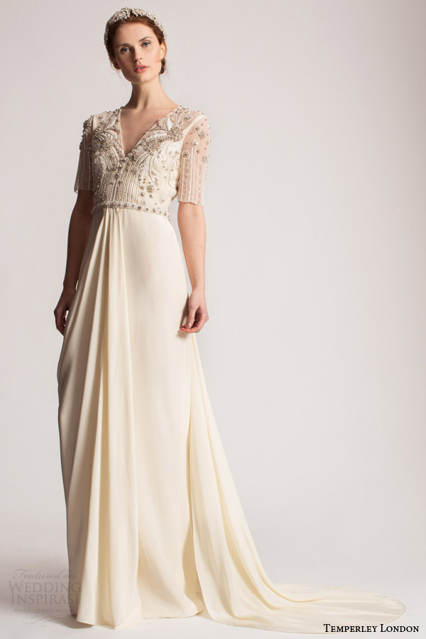 Temperley london summer 2016 wedding dresses marianna for Summer wedding dresses with sleeves