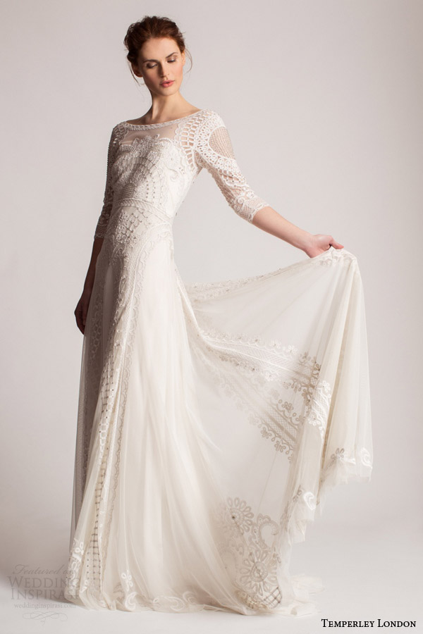 Quarter Sleeve Wedding Dress