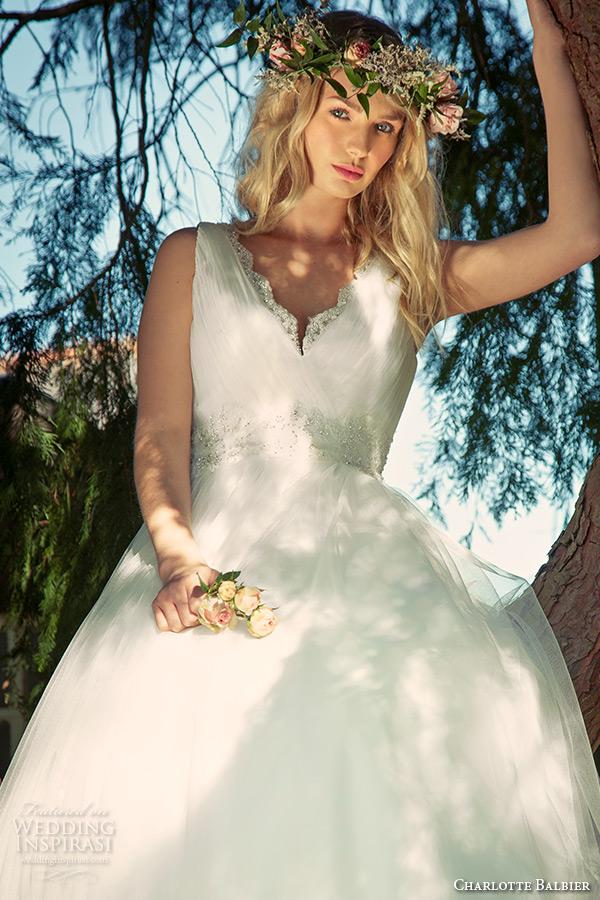 charlotte balbier 2016 bridal v neck wedding ball gown dress amba zoom