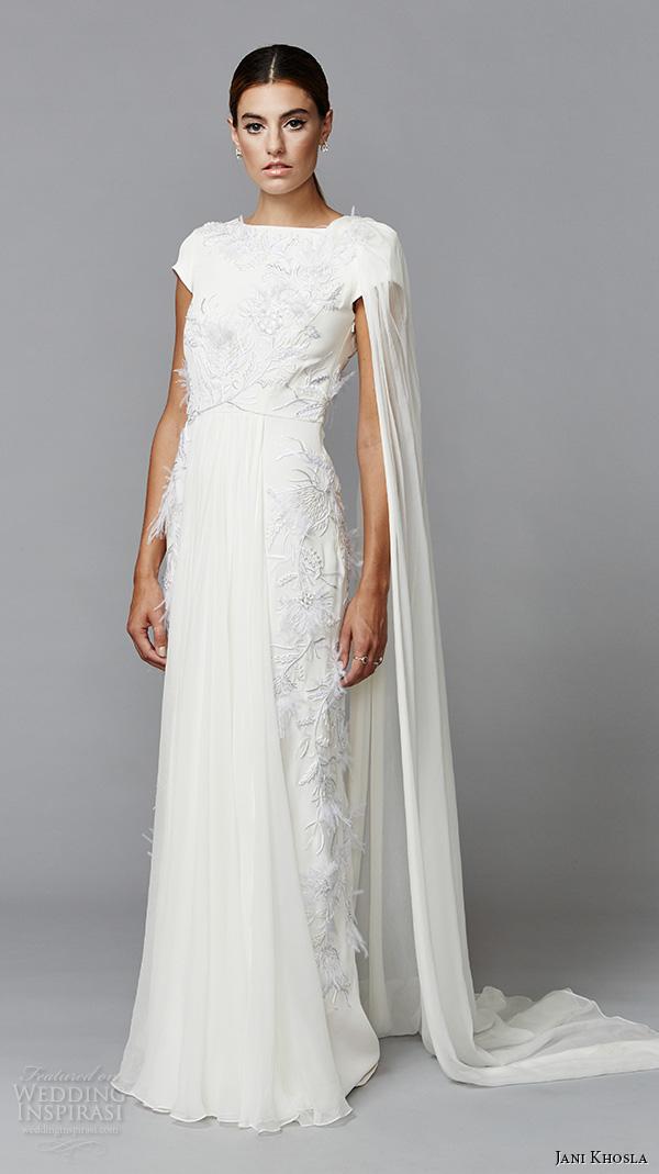 Jani khosla international debut collection wedding for Grecian wedding dress with sleeves