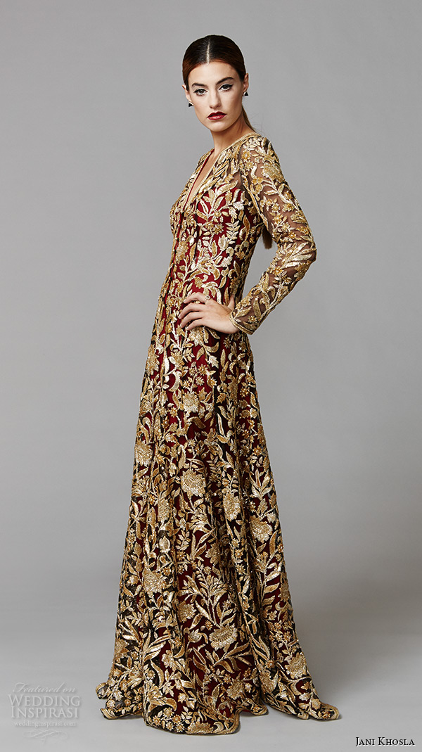 Jani khosla international debut collection wedding for Long sleeve indian wedding dresses