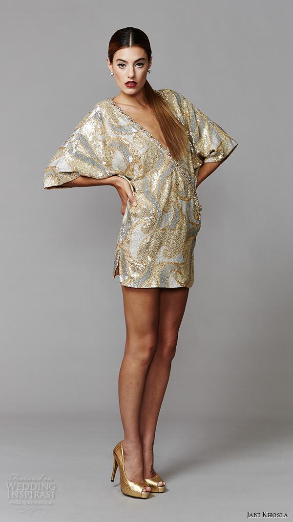 Jani khosla international debut collection wedding for Dolman sleeve wedding dress