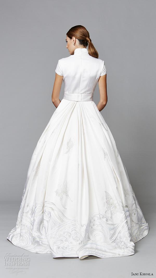 Jani khosla international debut collection wedding for Butterfly back wedding dress