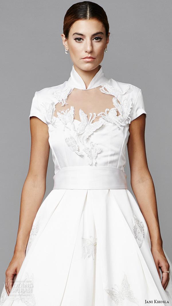 White Collar Wedding Dresses