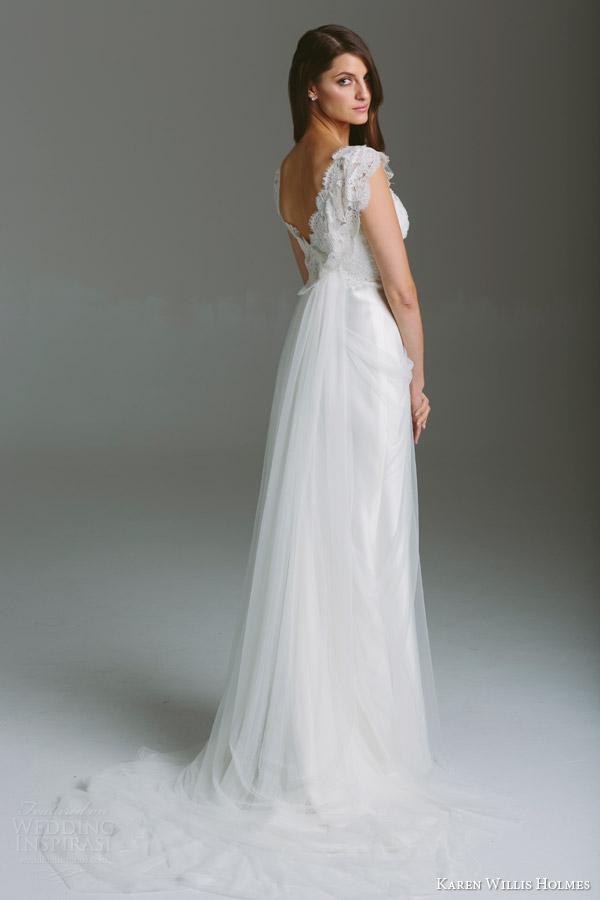 Georgette Wedding Dress 9 New karen willis holmes bridal
