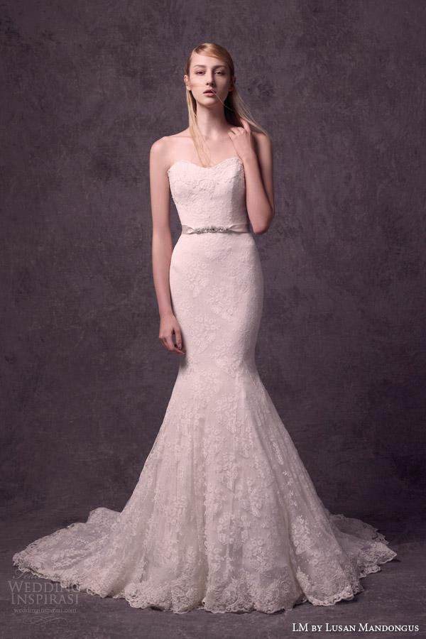Mermaid Sweetheart Lace Wedding Dress 18 Best lm lusan mandongus bridal