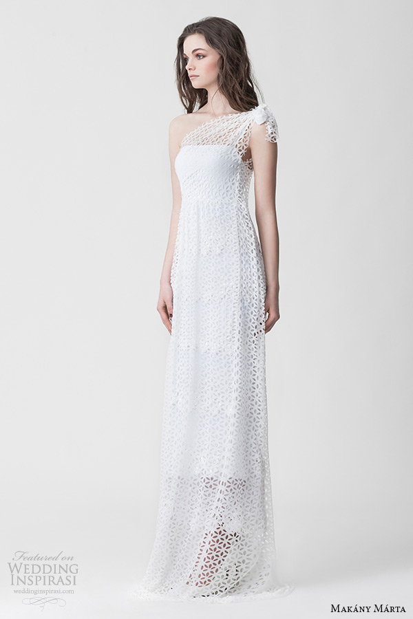 Wedding Dresses One Shoulder 82 Ideal makany marta midsummer night