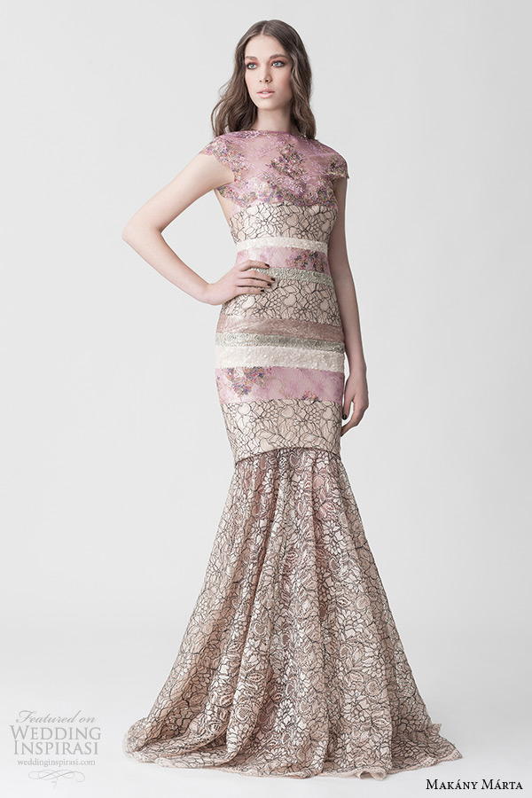 Pink Champagne Wedding Dress