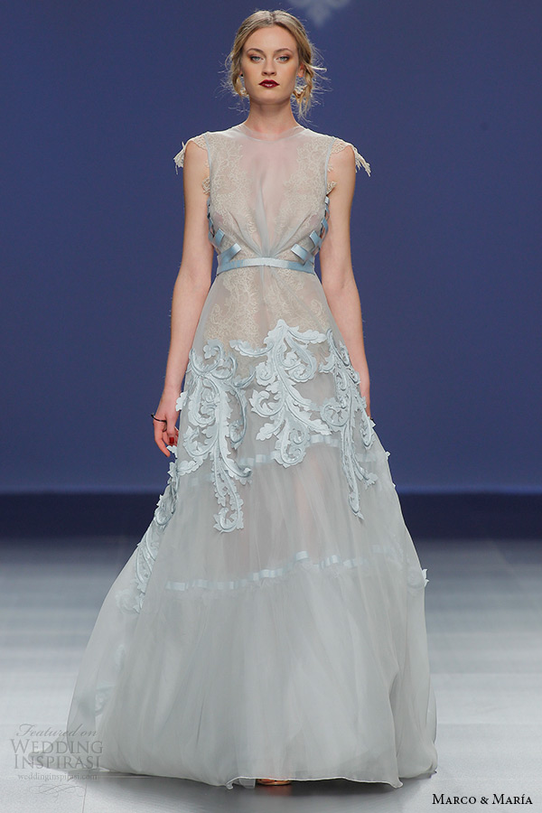 Blue Colored Wedding Dresses 20 Luxury marco and maria bridal