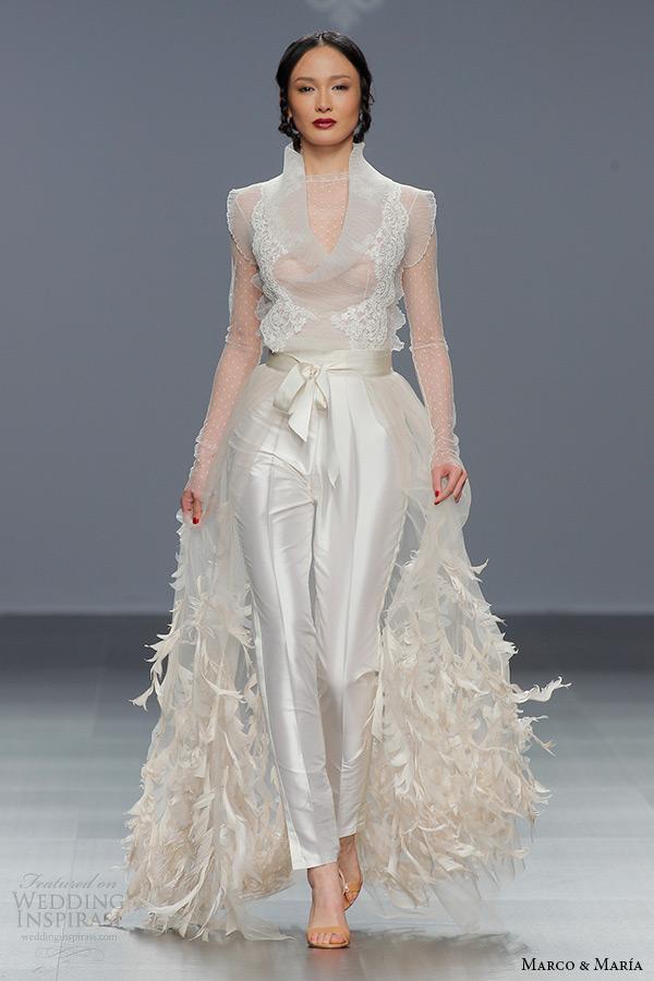 marco maria bridal 2016 wedding dresses wedding inspirasi With wedding dress pants