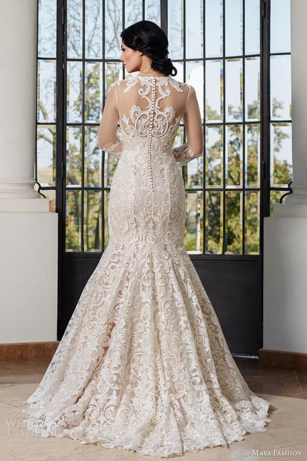 Plus Size Mermaid Wedding Gown 55 Elegant maya fashion bridal e