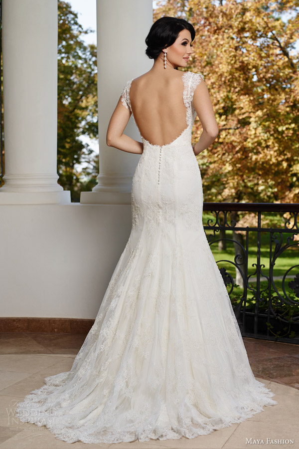 Wedding Dress Cap Sleeves Open Back - Wedding Dress Ideas