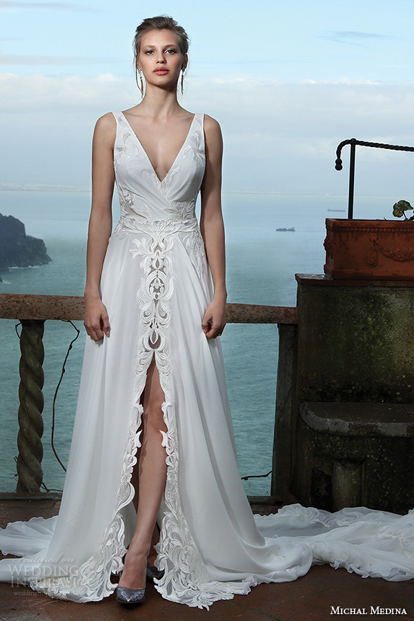 A Line Beach Wedding Dress 16 Trend michal medina spring bridal