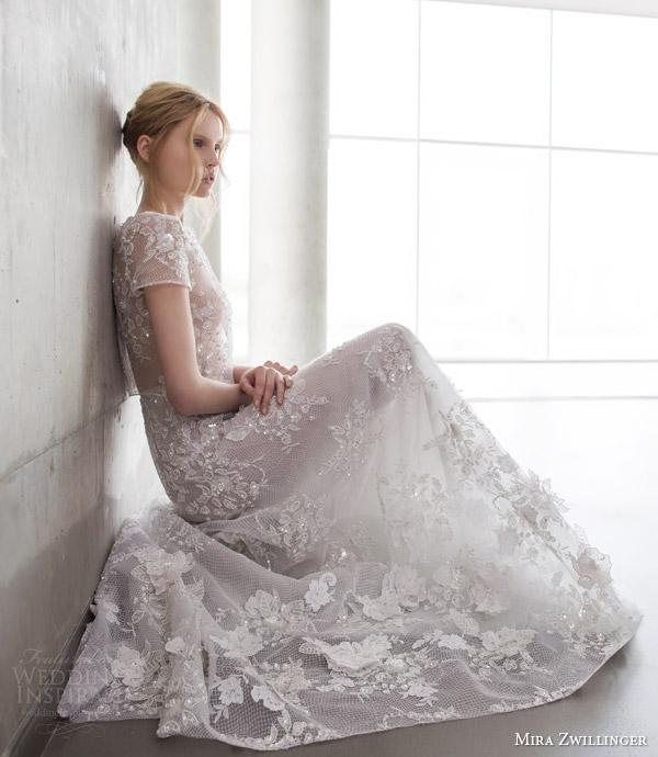 Wedding Dress Embellishments 35 Amazing mira zwilinger stardust bridal