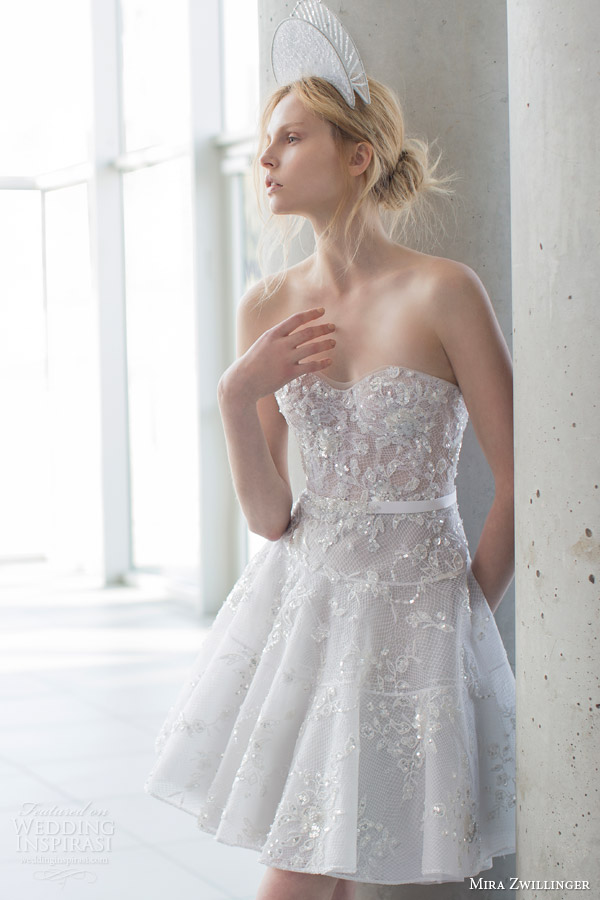 Pictures Of Short Wedding Dresses 18 Perfect mira zwilinger bridal stardust