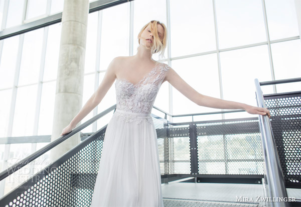 Shruthi In A Dreamy One Shoulder Pronovias Dress: Mira Zwillinger 2016 Wedding Dresses
