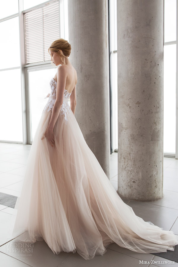 Mira zwillinger 2016 wedding dresses stardust bridal for Tulle and organza wedding dresses