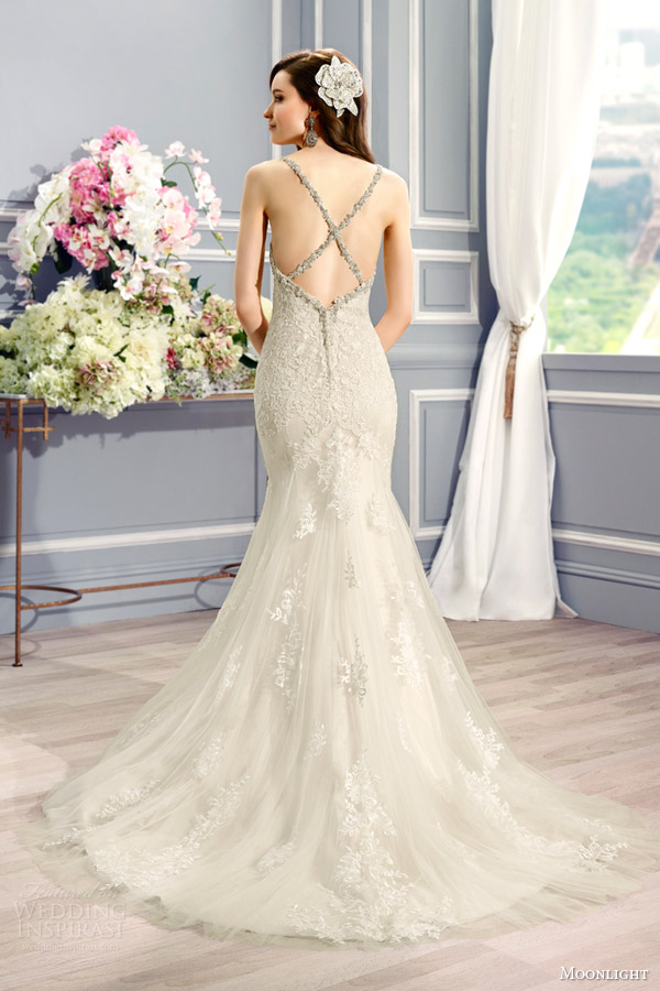 Awesome cross back wedding dress gallery styles ideas for Cross back wedding dress