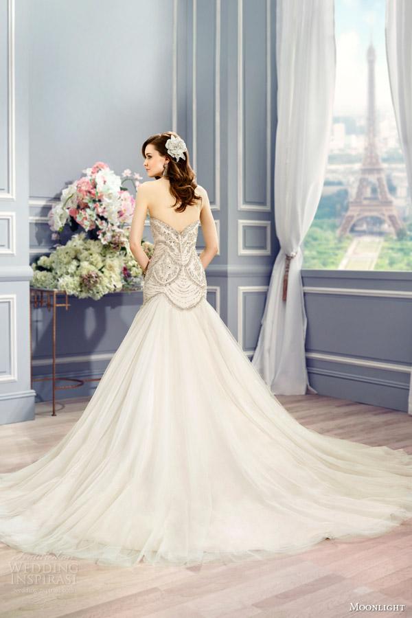Vintage Open Back Wedding Dresses 90 Unique moonlight couture bridal fall