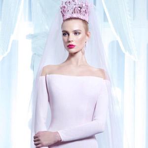 nicolas jebran spring 2015 couture pink wedding dress 300