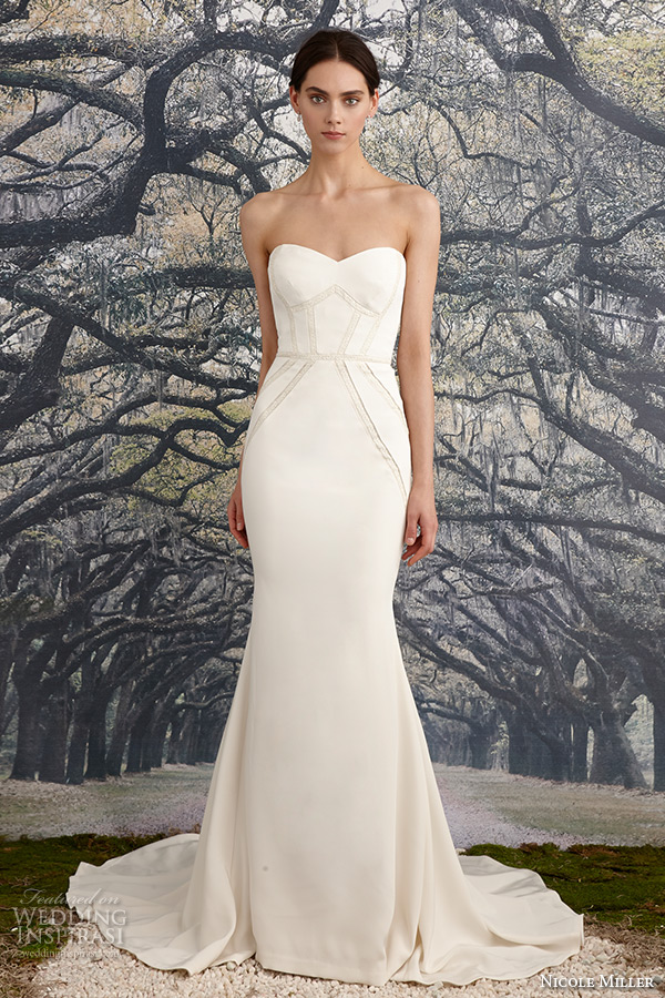 Nicole Miller Bridal Spring 2017 Wedding Dresses Inspirasi