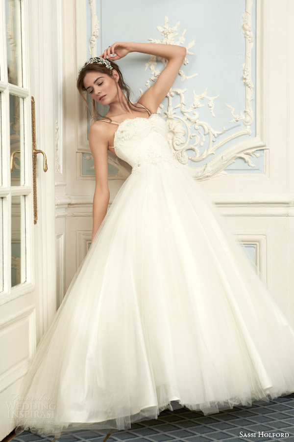 Si Holford Bridal 2016 Naomi Couture Wedding Dress Savoy Collection Ball Gown Straps