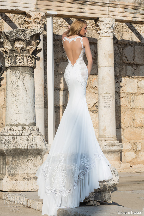 Low Back Wedding Dress Fit And Flare : Shabi israel wedding dresses inspirasi
