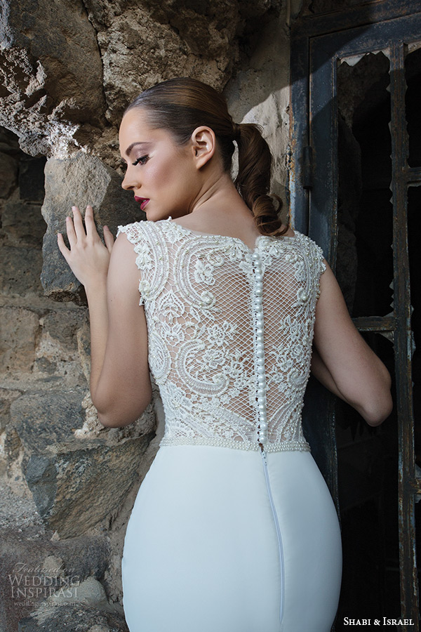 Shabi israel 2015 wedding dresses wedding inspirasi for Lace button back wedding dress