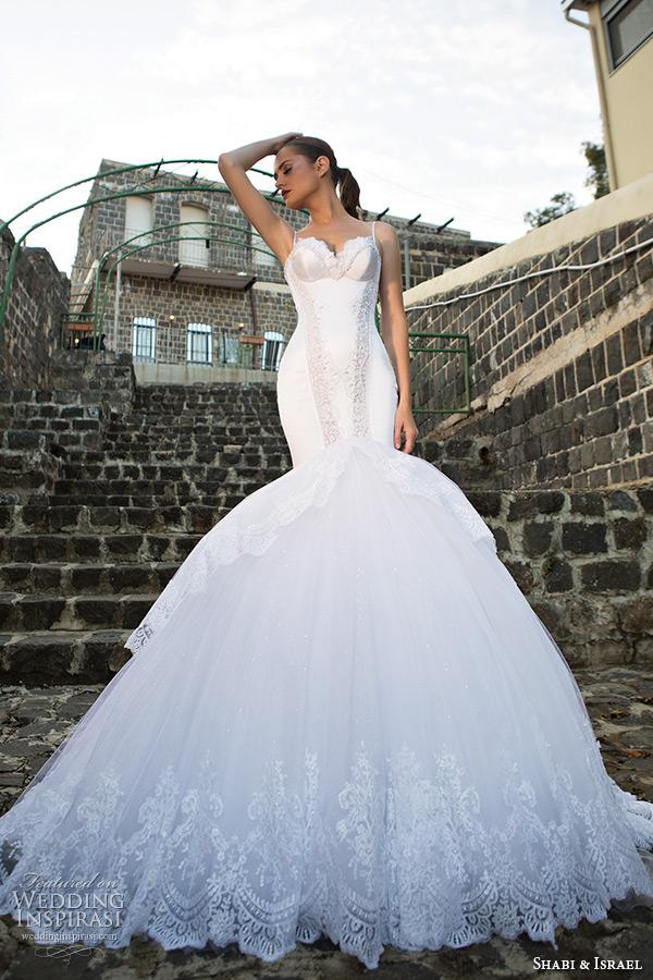 Shabi And Israel Wedding Dresses 2015 Spagetti Strap