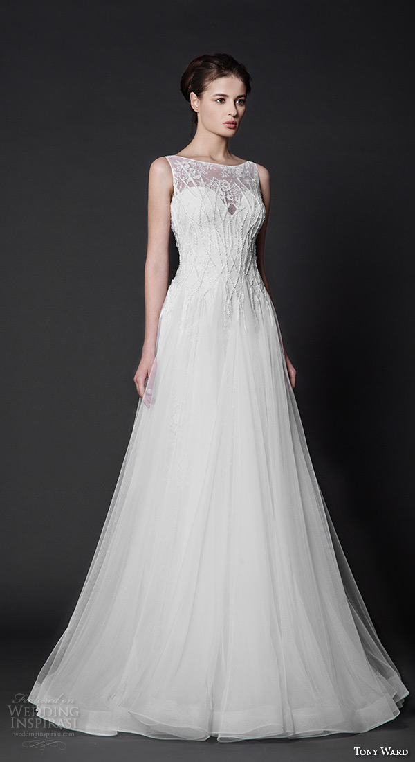 tony ward 2016 bridal sleeveless bateau neckline modified a line wedding dress annabelle