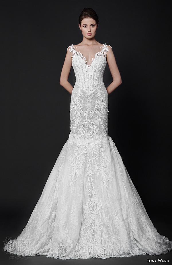 Tony Ward 2016 Wedding Dresses Abstract Roses Bridal