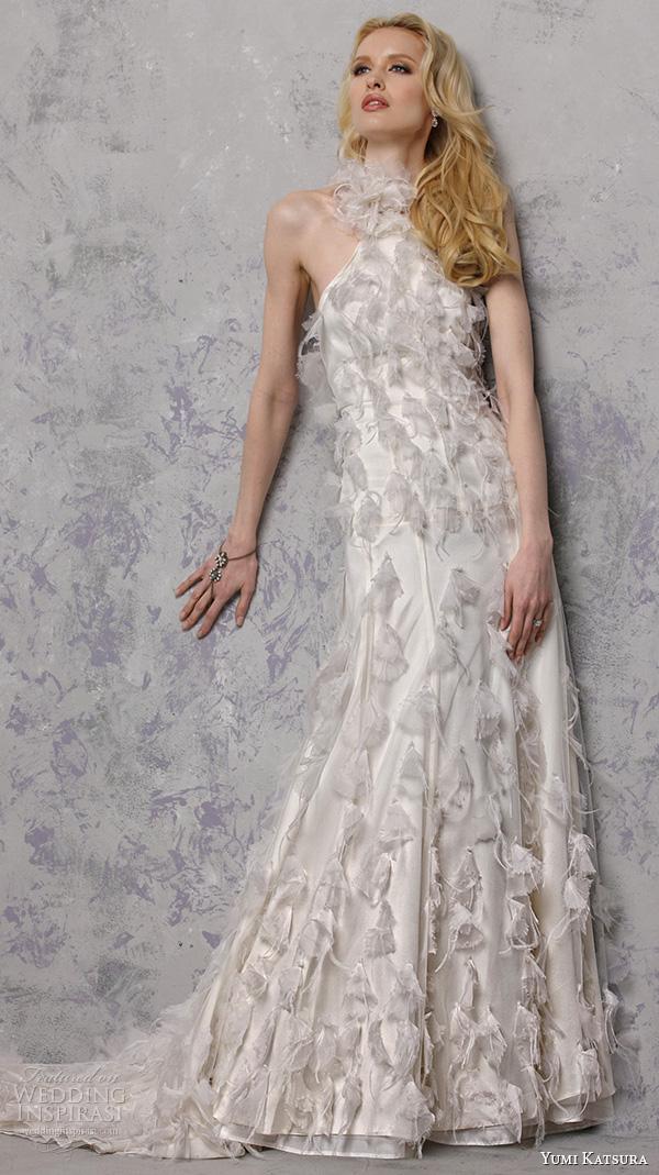 yumi katsura s2016 bridal halter neck sheath wedding dress bree