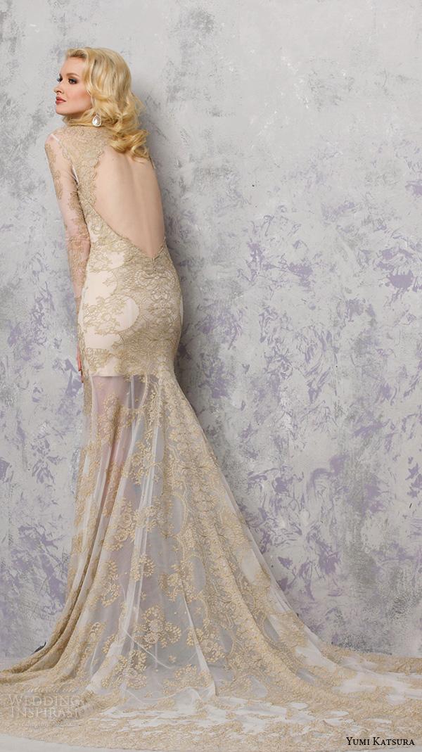 Yumi katsura spring 2016 wedding dresses wedding inspirasi for Jewel neckline wedding dress