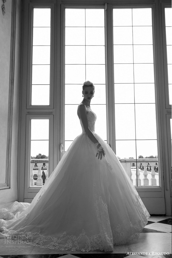 alessandra rinaudo 2016 bridal tina strapless ball gown gorgeous wedding dress sweetheart lace bodice