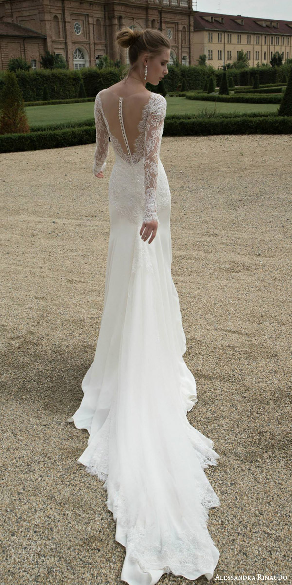 Alessandra rinaudo 2016 wedding dresses wedding inspirasi for Wedding dress with illusion top