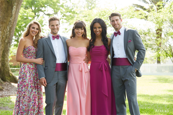 088f76b9f1 allure bridals bridesmaids bridesmaid gowns style 1440 1403 print pink  purple steel gray tux