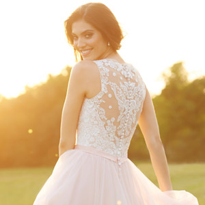 allure bridals romance fall 2015 collection pink wedding dress