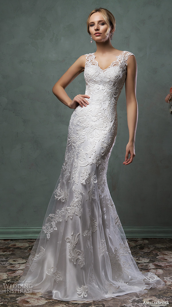 Amelia sposa 2016 wedding dresses wedding inspirasi for Silver and white wedding dresses