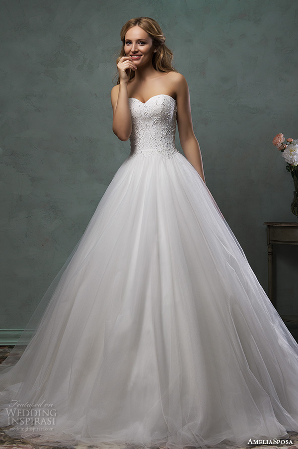 Amelia sposa 2016 wedding dresses wedding inspirasi for Pretty ball gown wedding dresses